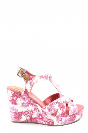 Tommy Hilfiger Wedges Sandaletten pink-wollweiß Allover-Druck Casual-Look