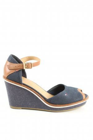 Tommy Hilfiger Wedges Sandaletten blau-braun Casual-Look