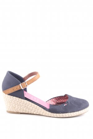 Tommy Hilfiger Wedges Sandaletten blau-creme Casual-Look