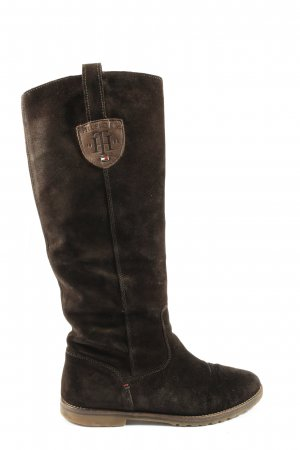Tommy Hilfiger Wide Calf Boots brown casual look