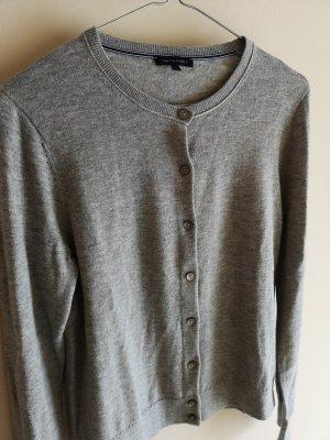 Tommy Hilfiger Gilet long tricoté gris clair