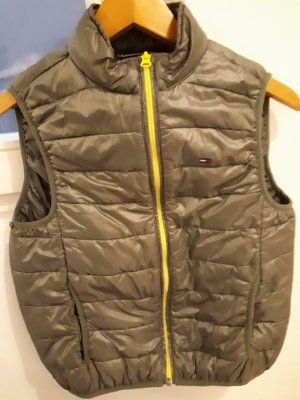 Tommy Hilfiger Denim Quilted Gilet yellow-green grey mixture fibre