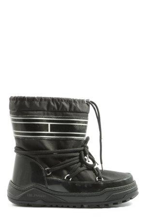 Tommy Hilfiger Buty zimowe czarny Wzór w paski W stylu casual