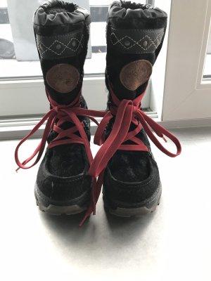 Tommy Hilfiger Bottes de neige noir-rouge cuir