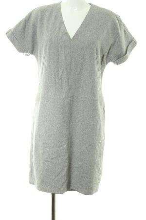 Tommy Hilfiger Wollen jurk lichtgrijs gestippeld zakelijke stijl