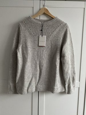 Tommy Hilfiger Wełniany sweter szary