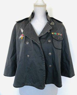 Tommy Hilfiger XS Cape Jacke Grau Patches Military
