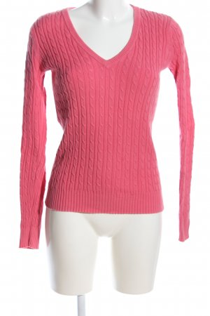 Tommy Hilfiger Zopfpullover pink Zopfmuster Casual-Look