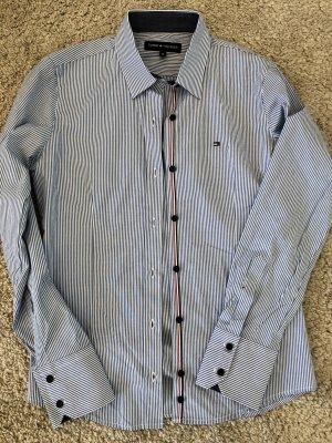 Tommy Hilfiger Hemdblouse azuur-wit Katoen