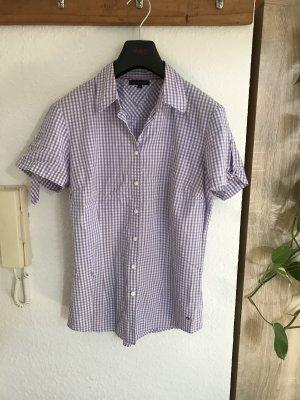 Tommy Hilfiger Chemise à manches courtes blanc-violet coton