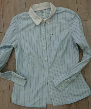 Tommy Hilfiger Denim Camicia blusa azzurro-bianco