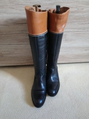 Tommy Hilfiger Slouch Boots black-cognac-coloured