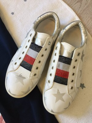 Tommy Hilfiger Denim Slip-on Sneakers silver-colored-white