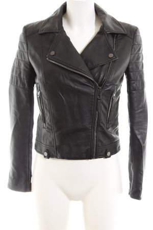 Tommy Jeans Giacca da motociclista nero stile casual