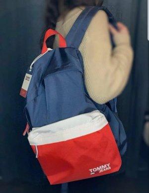 Tommy Jeans Sac à dos rouge-bleu
