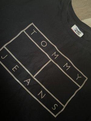 Tommy Hilfiger Denim Camiseta negro-color plata