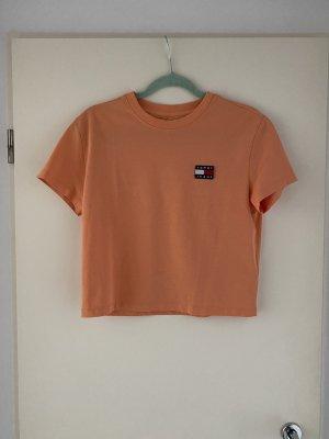Tommy Jeans Cropped Shirt light orange