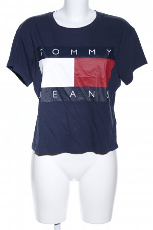 Tommy Jeans Cropped Shirt Motivdruck Casual-Look