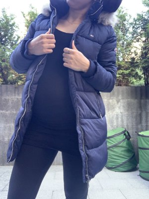 Tommy Jeans Płaszcz puchowy ciemnoniebieski