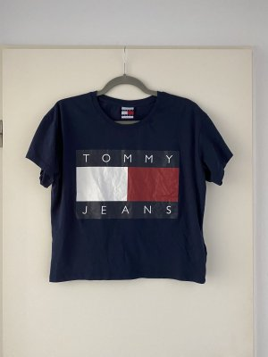 Tommy Jeans Camisa recortada azul oscuro