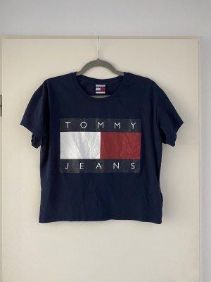 Tommy Jeans Koszula o skróconym kroju ciemnoniebieski