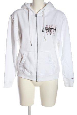 Tommy Jeans Kapuzensweatshirt weiß Schriftzug gestickt Casual-Look