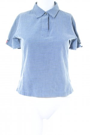 Tommy Jeans Kurzarmhemd blau-weiß Karomuster Casual-Look