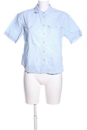 Tommy Jeans Kurzarmhemd blau-weiß Streifenmuster Business-Look