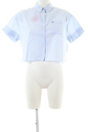 Tommy Jeans Shirt met korte mouwen blauw-wit gestreept patroon zakelijke stijl
