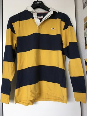 Tommy Jeans Rugby Shirt dark blue-light orange