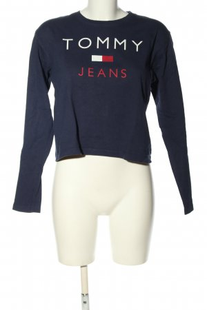 Tommy Jeans Rundhalspullover Motivdruck Casual-Look