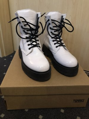 Tommy Jeans Lace-up Booties white
