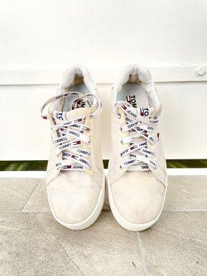 Tommy Jeans Sneakresy na obcasie biały