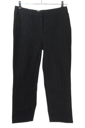 Tommy Jeans Stoffhose schwarz-hellgrau Streifenmuster Business-Look