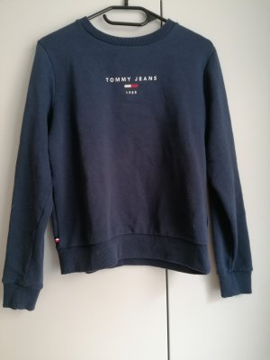 Tommy Jeans Sweater blau S 36 Logo Hilfiger Pullover