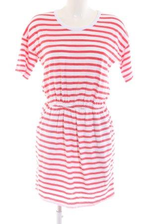Tommy Jeans Sweatkleid rot-weiß Streifenmuster Casual-Look
