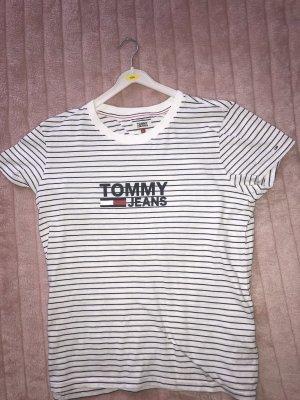 Tommy Jeans Camisa holgada negro-blanco