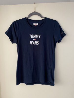 Tommy Jeans T-shirt blu scuro-bianco