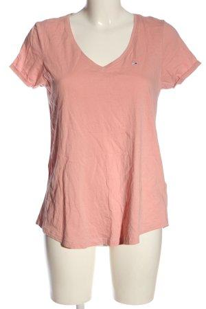 Tommy Jeans V-Ausschnitt-Shirt pink Casual-Look