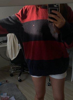 Tommy Hilfiger Oversized Sweater bordeaux-dark blue