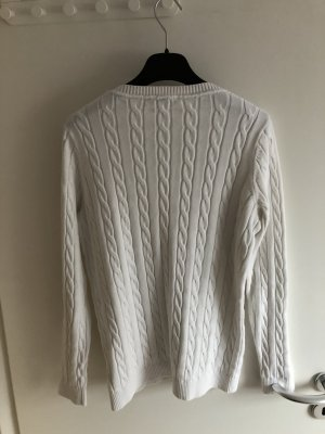 Tommy Hilfiger Cable Sweater white cotton