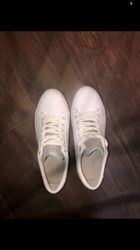 Tommy Hilfiger Sneakers met veters wit-zilver
