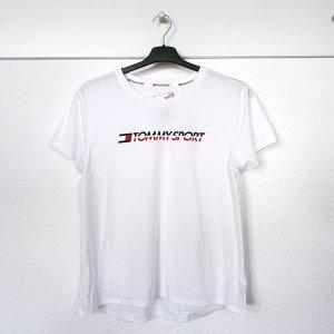 Tommy Sport T-Shirt Hilfiger weiß NEU M