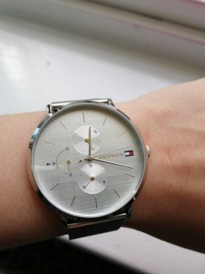 Tommy Hilfiger Watch With Metal Strap silver-colored-gold-colored