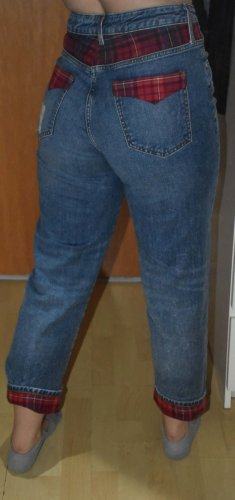 Gigi Hadid x Tommy Hilfiger Jeans boyfriend bleu