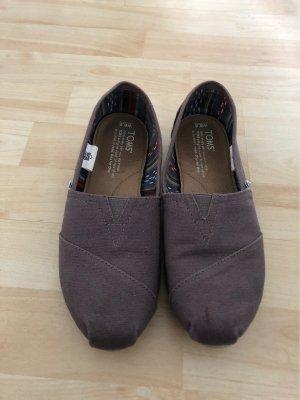Toms Mocassins gris-gris brun