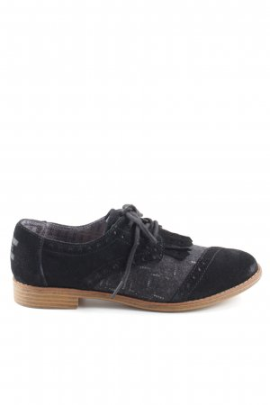 Toms Wingtip Shoes black-light grey casual look