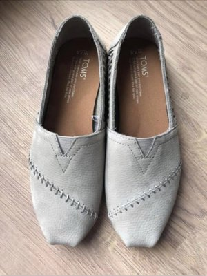 Toms Slippers light grey-oatmeal leather