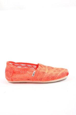 Toms Espadrille sandalen rood casual uitstraling