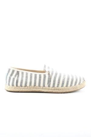 Toms Espadrilles-Sandalen blau-weiß Streifenmuster Casual-Look
